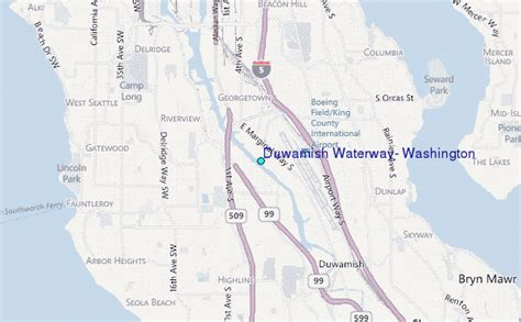 Tide Tables Seattle by Duwamish Waterway Washington Tide Station Location Guide