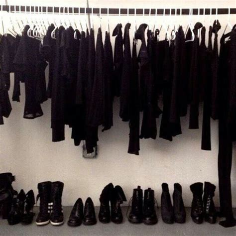 Black Clothes Closet All Black Black Closet Goals Image 3552514 By