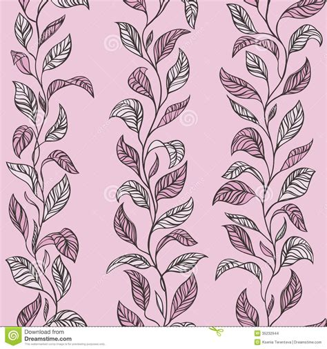 vector leaves texture pink stock illustration