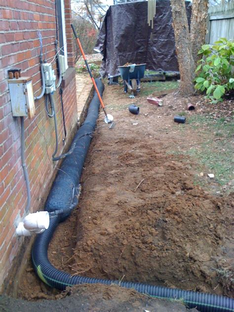 Parging A Basement Wall by French Drain Systems Family Firewood Amp Excavating