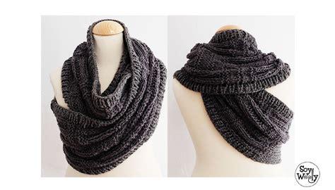 como usar la bufanda bufanda infinita chaleco en dos agujas katniss cowl soy
