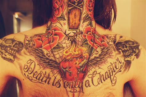 heartbeat death tattoo chest tattoos and designs page 489