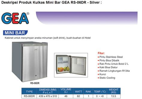 Kulkas Mini Bar Samsung jual gea kulkas mini portabel mini bar rs 06dr promooo