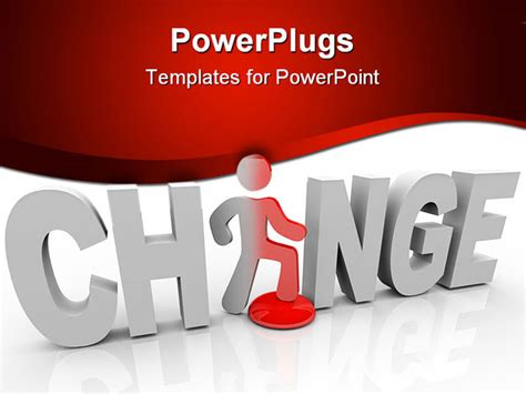 changing powerpoint template the word change with a standing in place of the letter