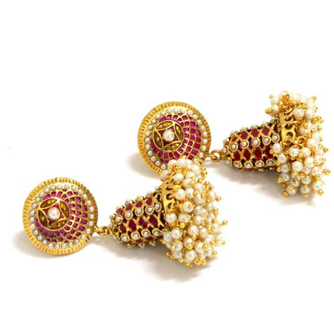 gold jhumka earrings design with price designer earrings jhumka designs in gold 2