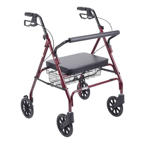 drive heavy duty bariatric 4 wheel rollator walker