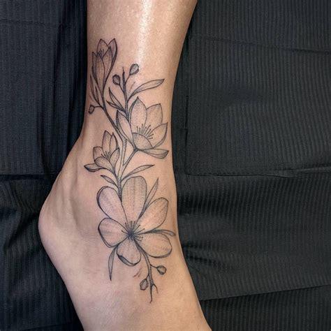 gorgeous blackwork flower tattoos page