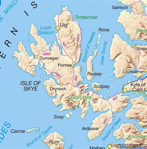 printable map skye isle of skye map photos diagrams topos summitpost