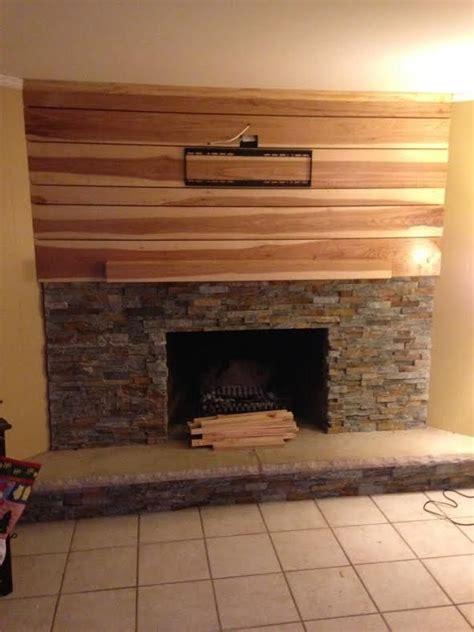 custom hickory fireplace mantle  customcraft homes