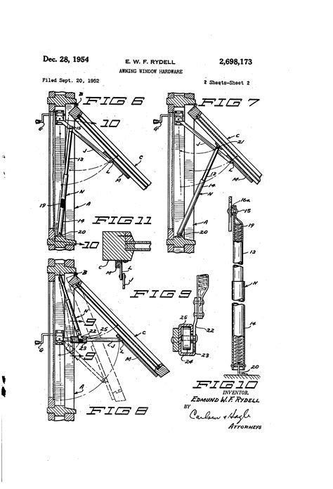 awning construction details patent us2698173 awning window hardware google patents