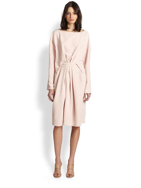 draped crepe dress rachel comey paloma draped crepe dress in pink lyst