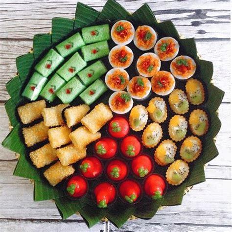 desain kemasan jajan kue nan snack tray prima catering depok