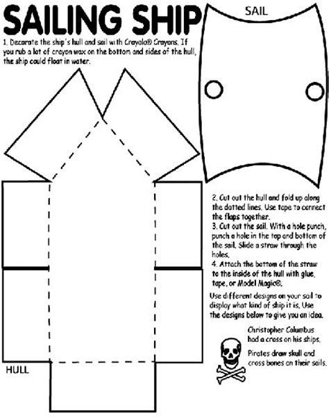cardboard pirate ship template woodworking projects plans