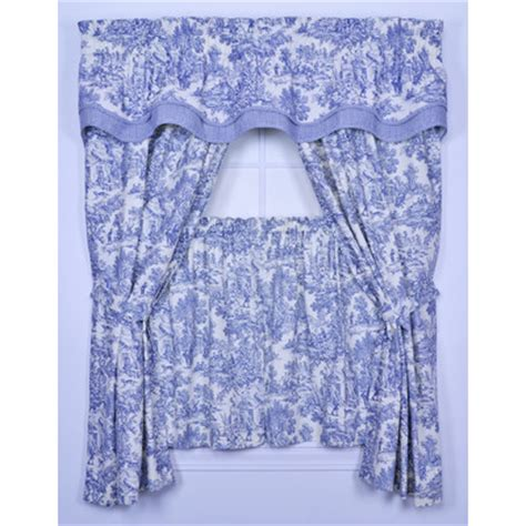 blue toile curtain panels curtains drapes wayfair