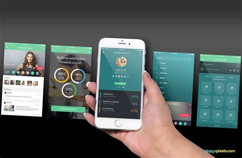 web design mockup app free iphone 6s perspective screen mockup zippypixels