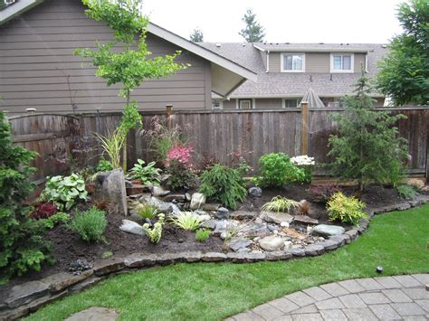 Backyard Paver Patio Small Backyard Landscaping Concept To Add Cute Detail In