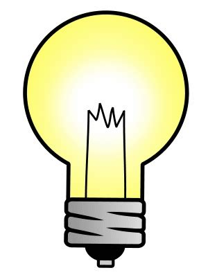 drawing a cartoon light bulb