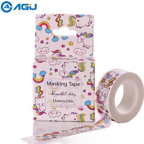 aagu 24 patterns 15mm 10m box package unicorn washi
