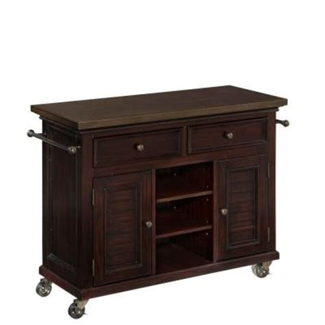 home styles 44 5 in w antique stainless top espresso