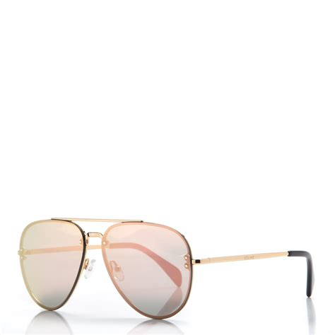 Cl Gold mirror aviator sunglasses cl 41392 s gold pink 218971