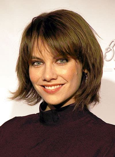 layered bob no bangs image lauren cohan short bangs bob layered edgy brunette