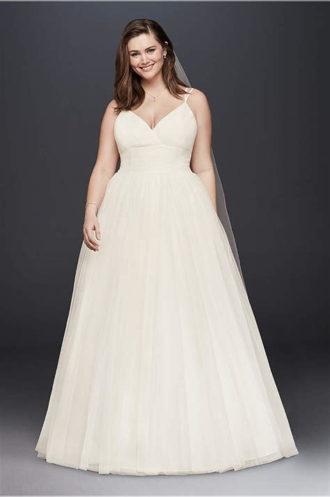 Short Plus Size Wedding Dress with Frilly Skirt   David's