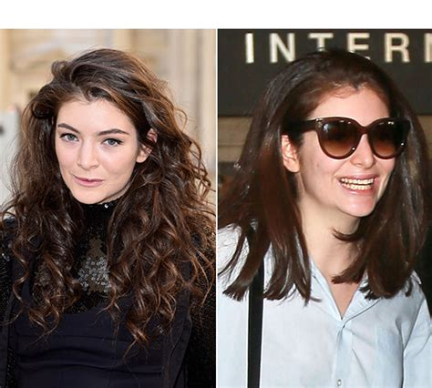 before and after straight to curly hair male lorde s haircut shows off shorter straight hair better