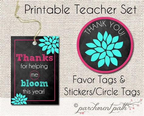 printable stickers for teachers thank you for helping me bloom teacher favor tags and