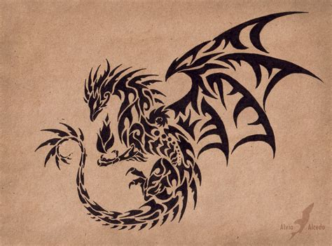 dragon with fire tattoo designs master design by alviaalcedo