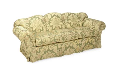 Damask Sofa by A Green And Gold Floral Silk Damask Three Seat Sofa