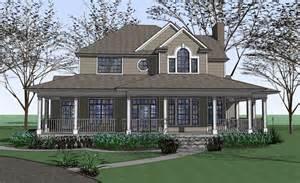 Country Farmhouse With Wrap Around Porch Plan Maverick | photos of houses with wrap around porches