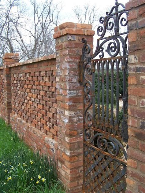 21 Best Fences Images On Pinterest Brick Fence Fence Garden Walls And Gates