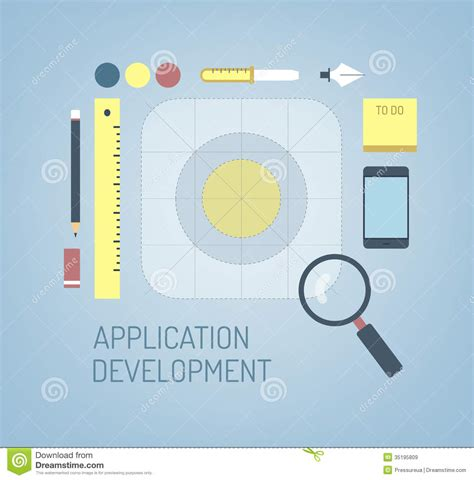 application design concepts for industrial applications design of new mobile ios application icon stock vector