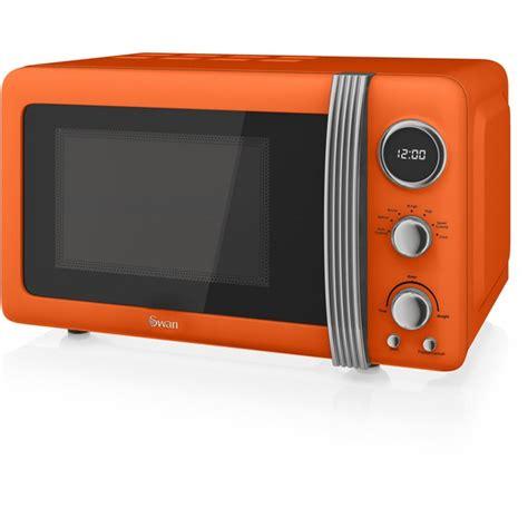 orange kitchen appliances swan sm22030on 800w digital microwave orange homeware