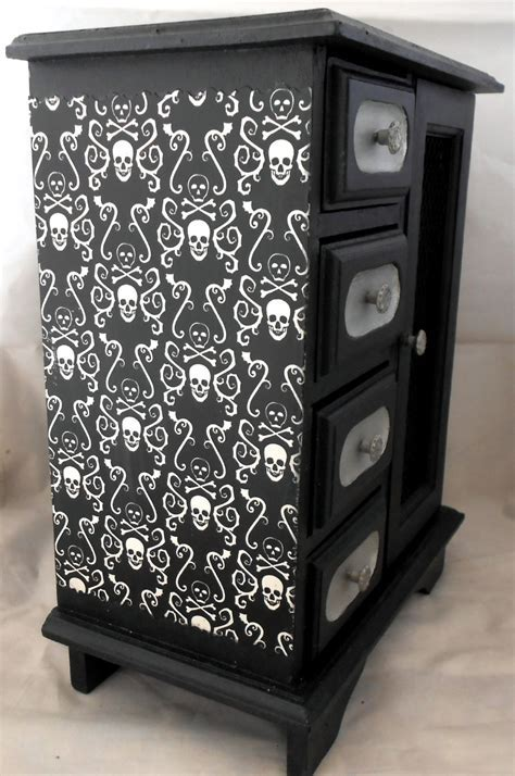 Gothic Home Decor Gothic Curio Cabinet Skull and