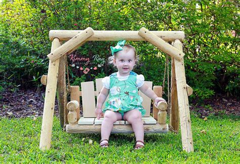 baby porch swing items similar to rustic wood cedar log porch swing chair