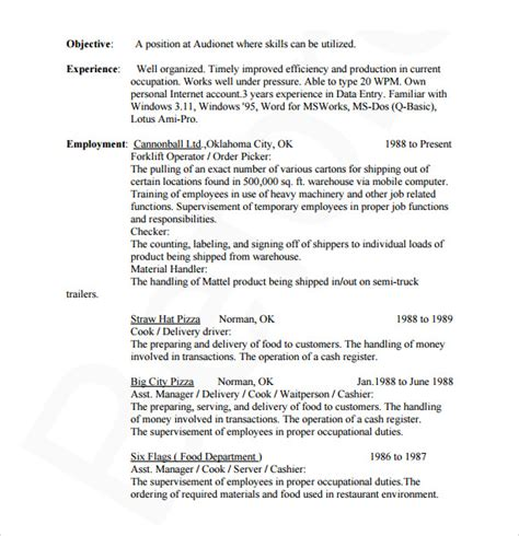 Resume Database by 7 Sle Database Administrator Resumes Sle Templates