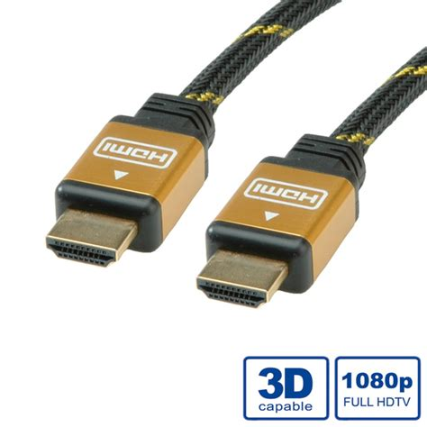 Kabel Hdmi To Hdmi M M Flat 15m Gold V14 High Quality 1 roline kabel hdmi high speed gold m m 15m