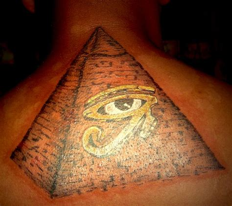 pyramid eye tattoo 35 pyramid tattoos ankh eye