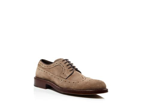 Ed Oxford Brown johnston murphy pearson wingtip oxfords in brown for