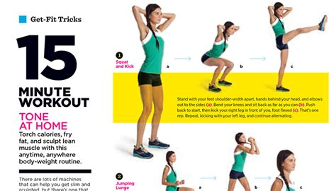 a speedy at home workout from women s health
