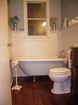 clawfoot tub in small bathroom clawfoot tub a cat peed on my drywall