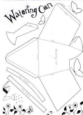 Watering Can Party Box Paper Water Template