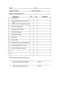 Induction Checklist Template For New Employees induction questionnaire template 28 images