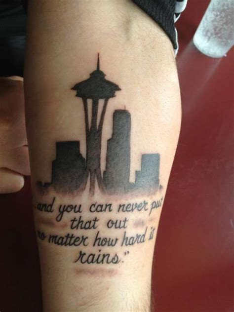 seattle tattoos seattle skyline the pictures to pin on tattooskid