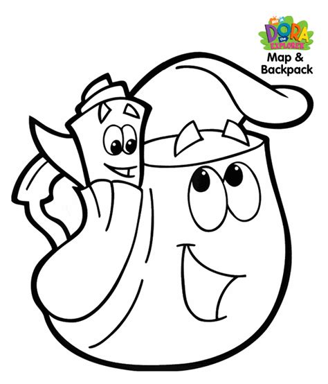 big dora coloring pages pudgy bunny s dora the explorer coloring pages