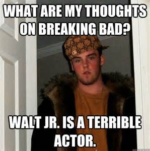 Walt Jr Meme - what are my thoughts on breaking bad walt jr is a