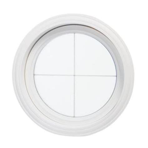 round windows for houses tafco windows 24 5 in x 24 5 in round decorative picture vinyl window white cross