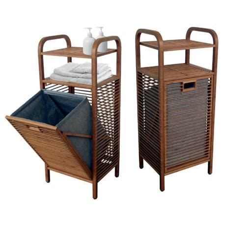 laundry with shelves laundry basket with 2 shelves with bamboo 40逾95逾30 cm