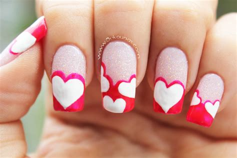 lo ultimo en decoracion en uas de los pies decoraci 243 n de u 241 as de corazones heart nail art youtube